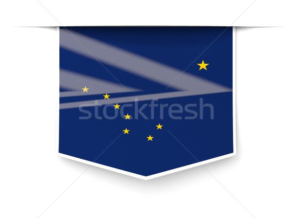 Alasca bandeira praça etiqueta sombra Estados Unidos Foto stock © MikhailMishchenko