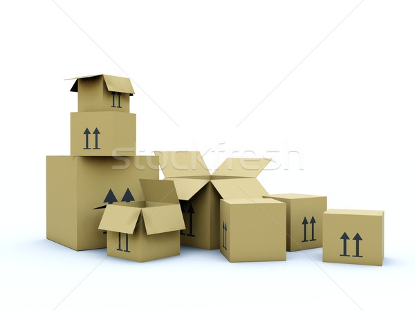 Empty boxes Stock photo © MikhailMishchenko