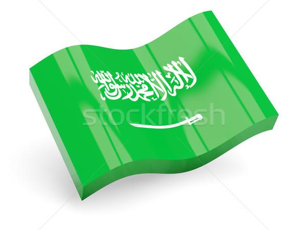 3D bayrak Suudi Arabistan yalıtılmış beyaz seyahat Stok fotoğraf © MikhailMishchenko