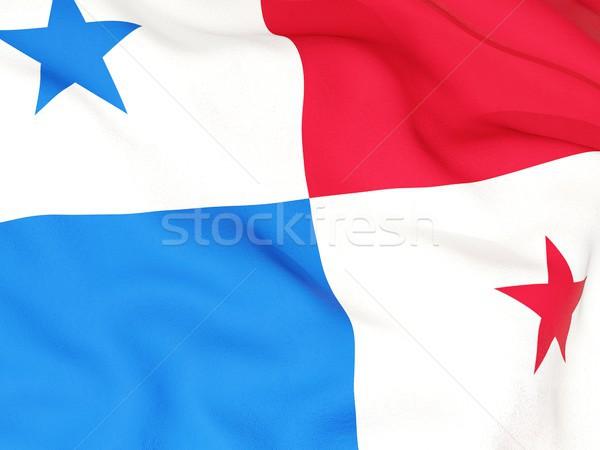 Zászló Panama utazás szalag hullám illusztráció Stock fotó © MikhailMishchenko