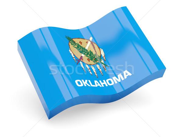Golvend icon Oklahoma vlag USA Stockfoto © MikhailMishchenko