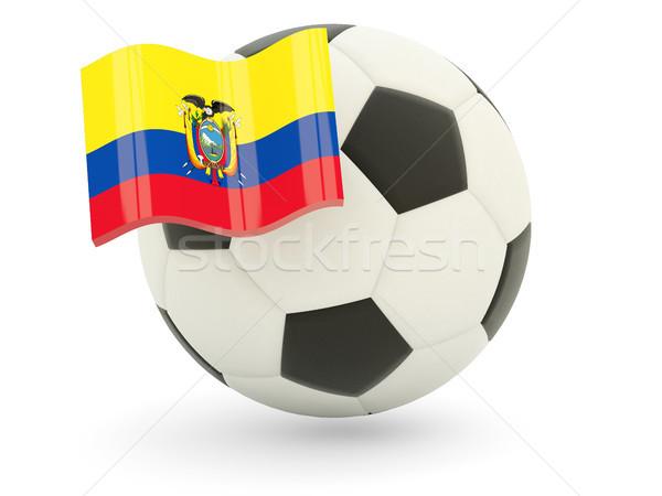 Voetbal vlag Ecuador geïsoleerd witte sport Stockfoto © MikhailMishchenko