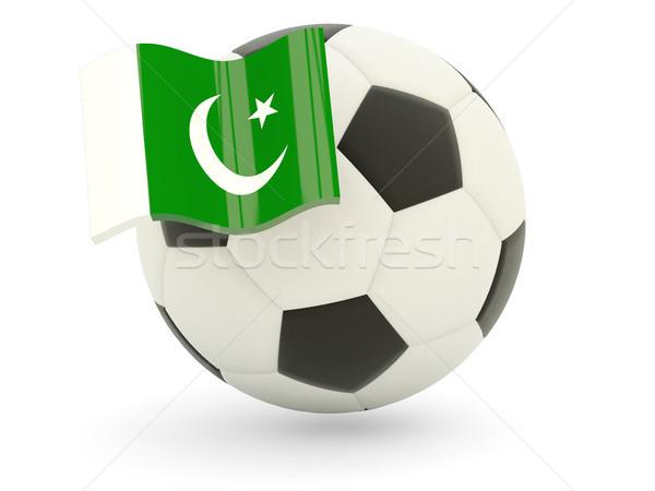 Futbol bayrak Pakistan yalıtılmış beyaz spor Stok fotoğraf © MikhailMishchenko