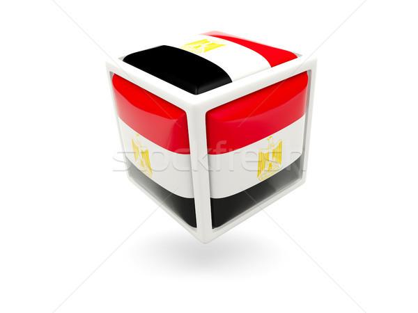 Flag of egypt. Cube icon Stock photo © MikhailMishchenko