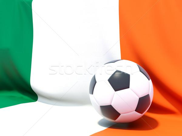 Banderą Irlandia piłka nożna zespołu kraju Zdjęcia stock © MikhailMishchenko