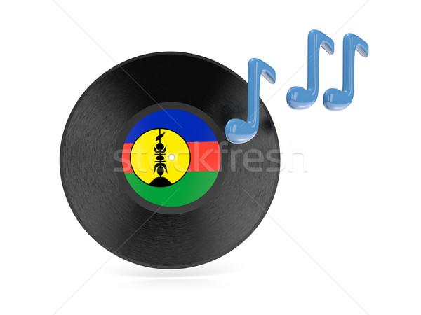 Vinyl disk with flag of new caledonia Stock photo © MikhailMishchenko