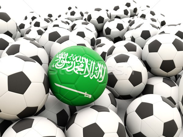 Voetbal vlag Saoedi-Arabië regelmatig zomer Stockfoto © MikhailMishchenko