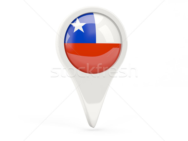 Zászló ikon Chile izolált fehér térkép Stock fotó © MikhailMishchenko