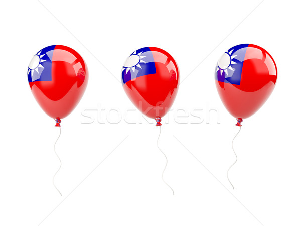 Air balloons with flag of republic of china Stock photo © MikhailMishchenko