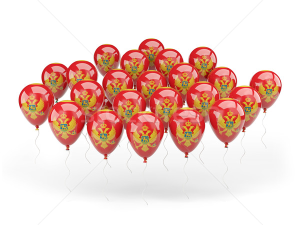Balloons with flag of montenegro Stock photo © MikhailMishchenko