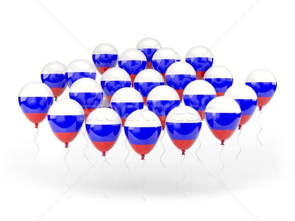 шаров флаг Россия изолированный белый путешествия Сток-фото © MikhailMishchenko