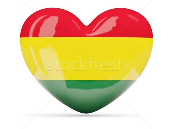 Szív alakú ikon zászló Bolívia izolált Stock fotó © MikhailMishchenko