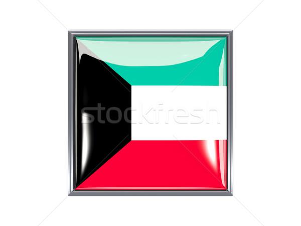 Square icon with flag of kuwait Stock photo © MikhailMishchenko
