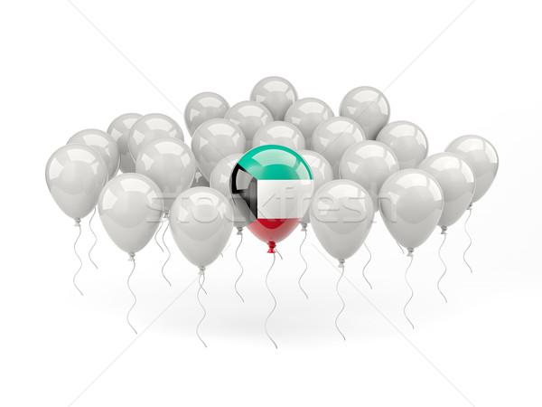Lucht ballonnen vlag Koeweit geïsoleerd witte Stockfoto © MikhailMishchenko