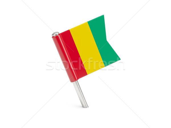 флаг Pin Гвинея изолированный белый Сток-фото © MikhailMishchenko