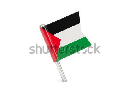 Flag pin of palestinian territory Stock photo © MikhailMishchenko