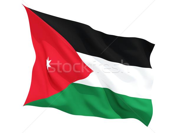 Vlag Jordanië geïsoleerd witte Stockfoto © MikhailMishchenko