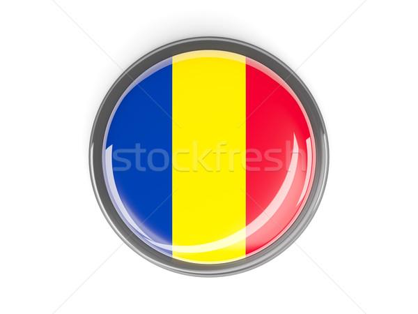 Düğme bayrak Romanya Metal ülke yansıma Stok fotoğraf © MikhailMishchenko