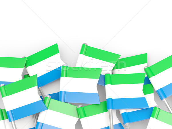 Flag pin of sierra leone Stock photo © MikhailMishchenko