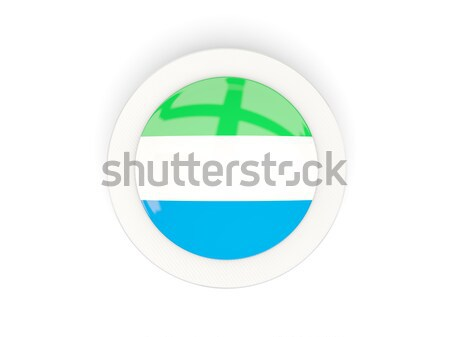Round sticker with flag of sierra leone Stock photo © MikhailMishchenko