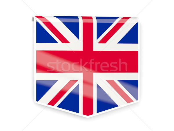 Bandiera etichetta Regno Unito isolato bianco segno Foto d'archivio © MikhailMishchenko