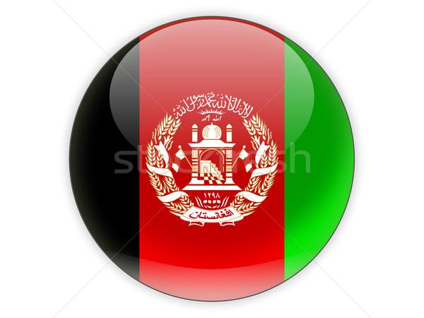 Ikon bayrak Afganistan yalıtılmış beyaz seyahat Stok fotoğraf © MikhailMishchenko
