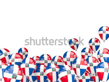 Repülés léggömbök zászló Panama izolált fehér Stock fotó © MikhailMishchenko