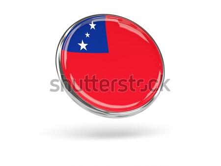 Round icon with flag of samoa Stock photo © MikhailMishchenko