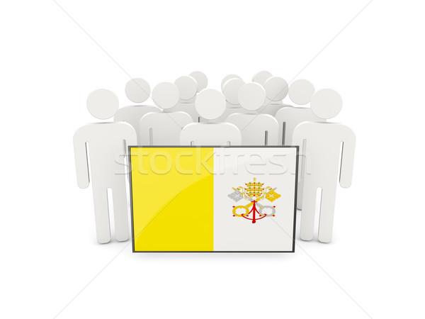 люди флаг Ватикан изолированный белый толпа Сток-фото © MikhailMishchenko