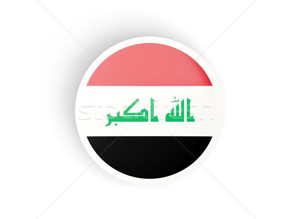 Sticker vlag Irak geïsoleerd witte reizen Stockfoto © MikhailMishchenko