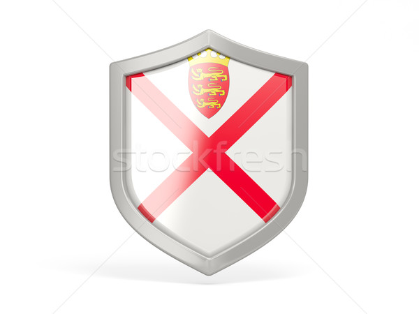Shield icon with flag of jersey Stock photo © MikhailMishchenko