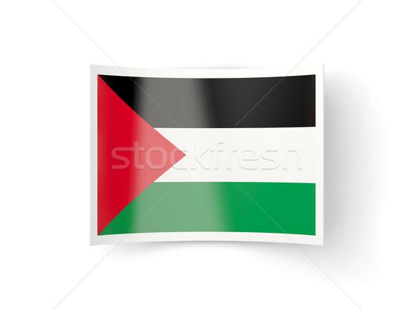 Bent icon with flag of palestinian territory Stock photo © MikhailMishchenko