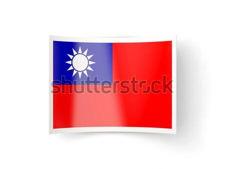 Bent icon with flag of republic of china Stock photo © MikhailMishchenko