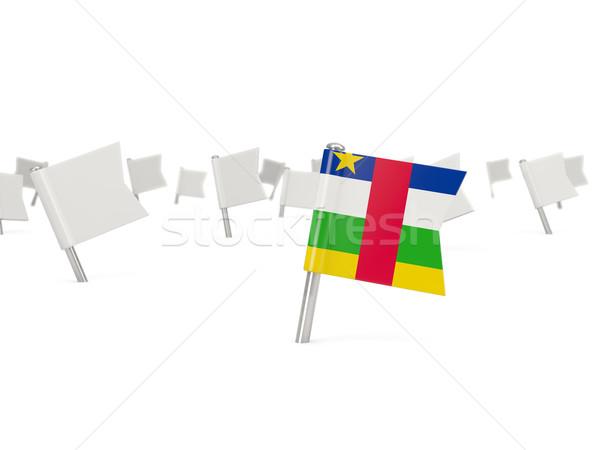 Placu pin banderą centralny Afryki republika Zdjęcia stock © MikhailMishchenko
