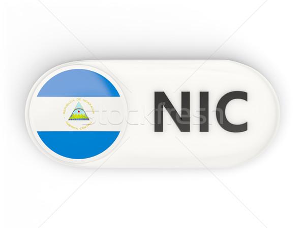 ícone bandeira Nicarágua iso código país Foto stock © MikhailMishchenko