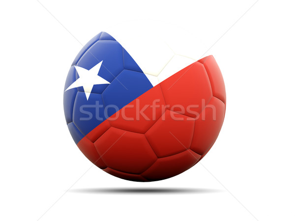 Futebol bandeira Chile ilustração 3d futebol esportes Foto stock © MikhailMishchenko