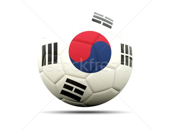 Football with flag of korea south Stock photo © MikhailMishchenko