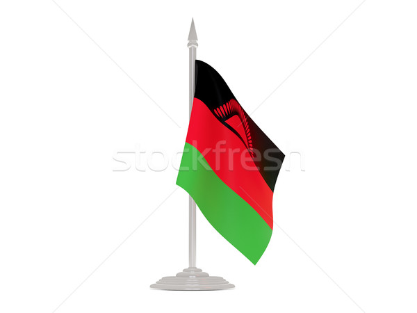Flag of malawi with flagpole. 3d render Stock photo © MikhailMishchenko