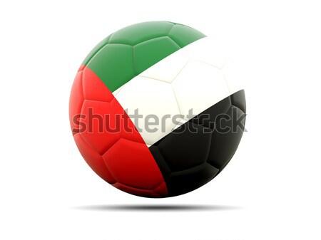 Futbol bayrak Birleşik Arap Emirlikleri 3d illustration futbol spor Stok fotoğraf © MikhailMishchenko