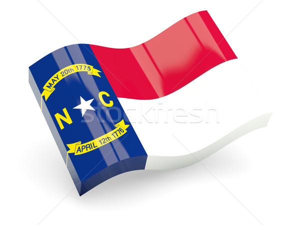 Flag of north carolina, US state wave icon Stock photo © MikhailMishchenko