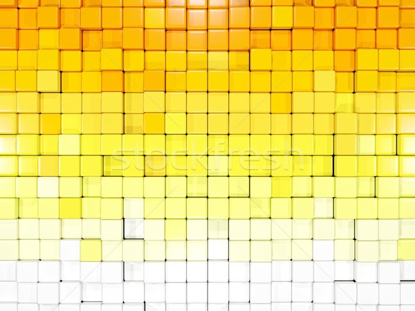 白 黄色 六角形 パターン 3次元の図 背景 ストックフォト © MikhailMishchenko