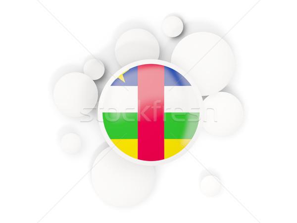 Vlag centraal afrikaanse republiek cirkels patroon Stockfoto © MikhailMishchenko
