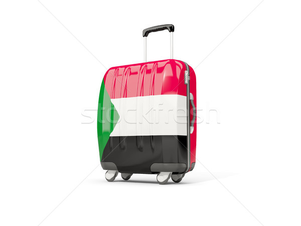 Luggage with flag of sudan. Suitcase isolated on white Stock photo © MikhailMishchenko