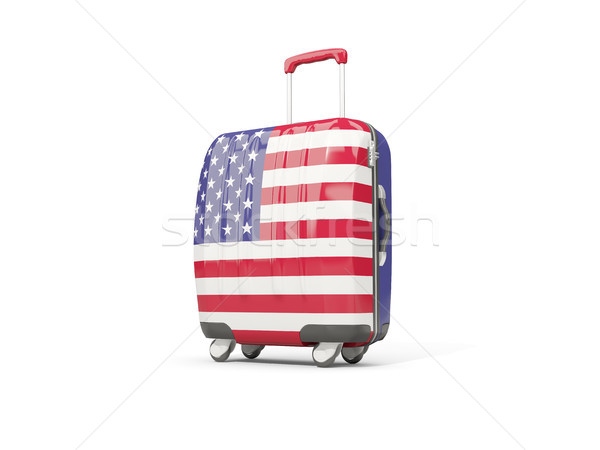 Luggage with flag of united states of america. Suitcase isolated Stock photo © MikhailMishchenko
