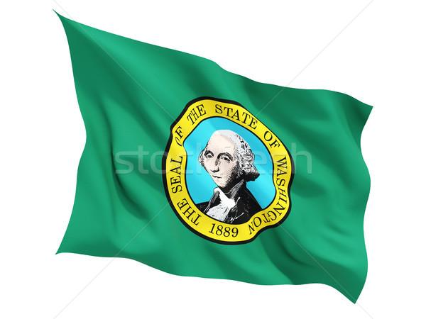 флаг изолированный белый 3d иллюстрации Америки Сток-фото © MikhailMishchenko