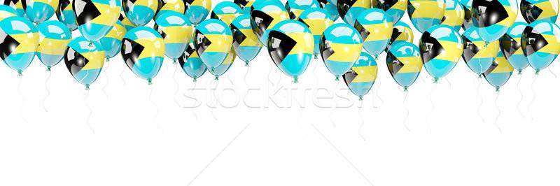 Balões quadro bandeira Bahamas isolado branco Foto stock © MikhailMishchenko