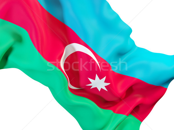 Bandeira Azerbaijão ilustração 3d viajar Foto stock © MikhailMishchenko