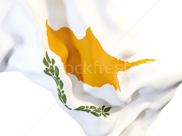フラグ キプロス クローズアップ 3次元の図 旅行 ストックフォト © MikhailMishchenko