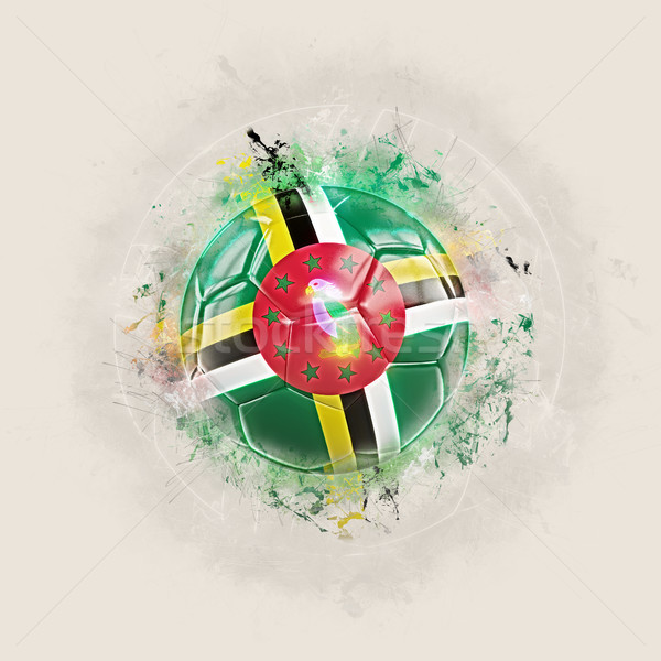 Grunge futebol bandeira Dominica ilustração 3d mundo Foto stock © MikhailMishchenko