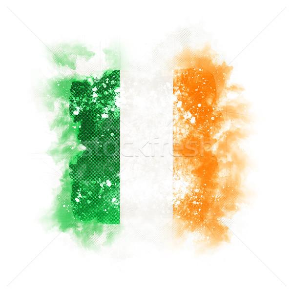 Placu grunge banderą Irlandia 3d ilustracji retro Zdjęcia stock © MikhailMishchenko